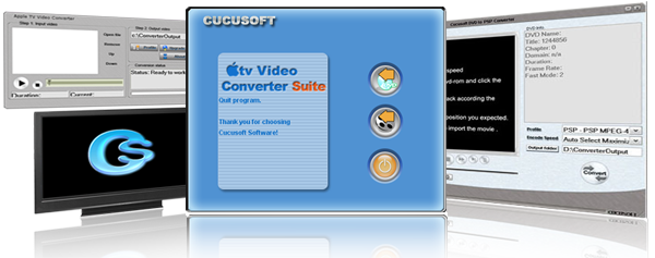 Click to view Cucusoft DVD to Apple TV Converter Suite 8.8.8.8 screenshot