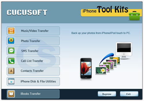Cucusoft iPhone Tool Kits Screen shot