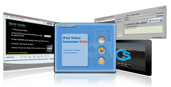 Click to view Cucusoft iPad Video+DVD Converter Suite 8.13.8.15 screenshot