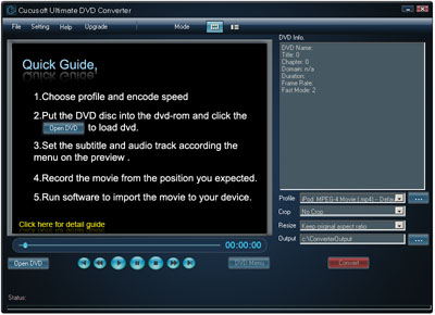 Convert DVDs to almost any Audio/Video Format