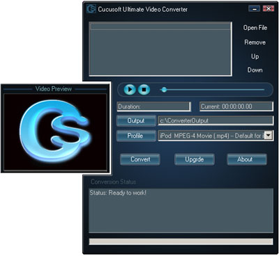 Click to view Cucusoft Video Converter Ultimate screenshots
