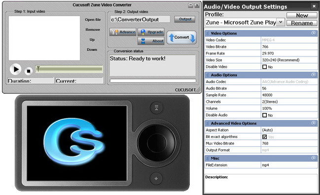 Screenshot of #1 Zune Video Converter