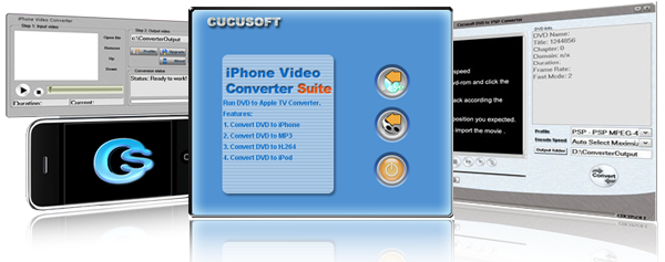 Click to view Cucusoft DVD to iPhone Converter Suite 8.6.8.6 screenshot