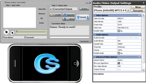 Click to view Cucusoft iPhone Video Converter 8.08 screenshot