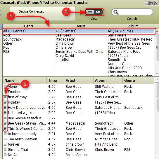 transfer music from ipod to computer